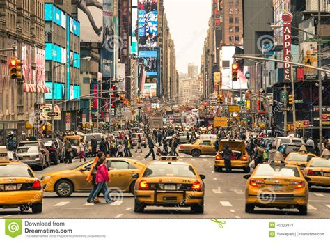 hour with cabs and melting pot in new york editorial stock photo image 40323913