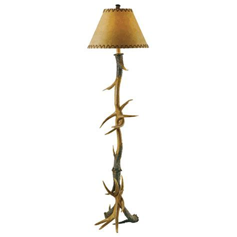 Deer Antler Lamps: Trophy Antler Floor Lamp Black Forest Decor