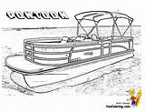 Coloring Boat Pontoon Boats Police Ship Sheets Clip Slide Plans Ski Colouring Printable Clipart Fishing Drawing Houseboat Rugged Building Lego sketch template
