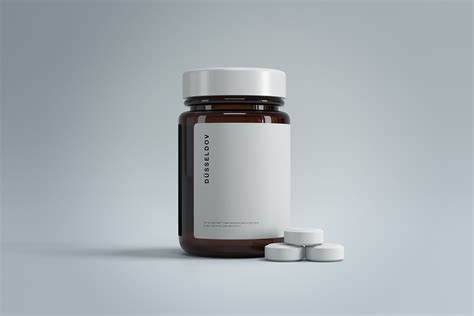 Free customizable juice bottle mockup is here to fulfill your presentation needs. Medicine Bottle with Pills Mockup | Free Mockup