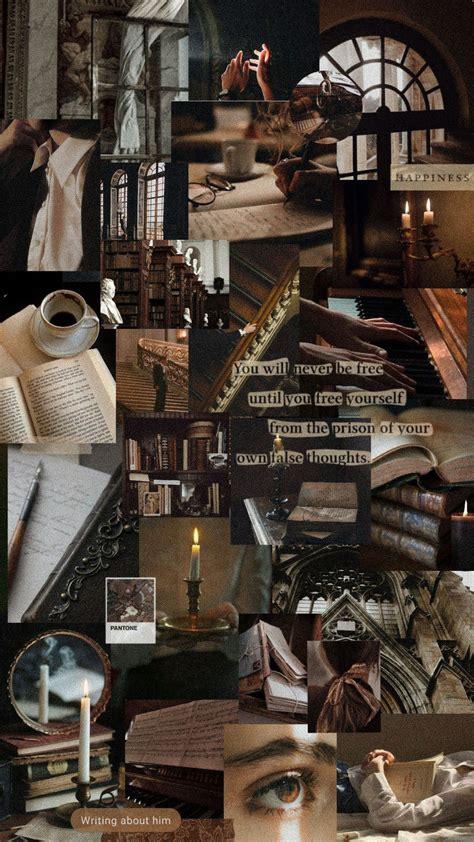 brown academia aesthetic wallpaper desktop