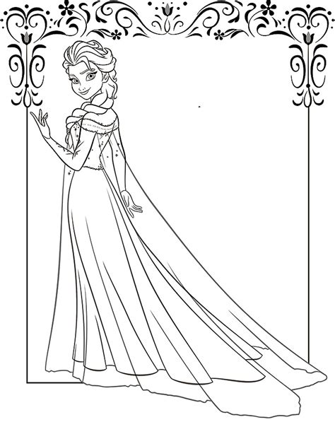 elsa coloring pages    print