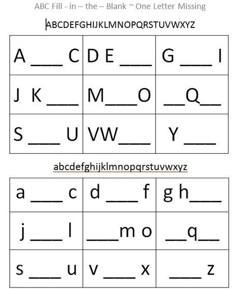 This Alphabet Fillintheblank Sheet Supports Cognitive Development Through Patte… Cognitive
