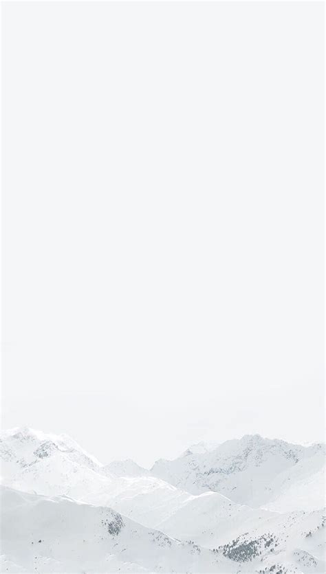 white winter mountain wallpaper iphone clean
