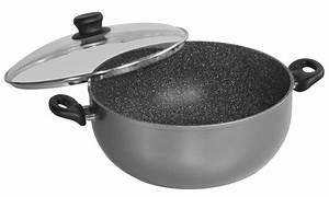 STONELINE® XXXL Cooking pot 32 cm, with glass lid | STONELINE