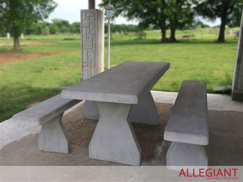 precast concrete picnic tables allegiant precast concrete picnic table with benches