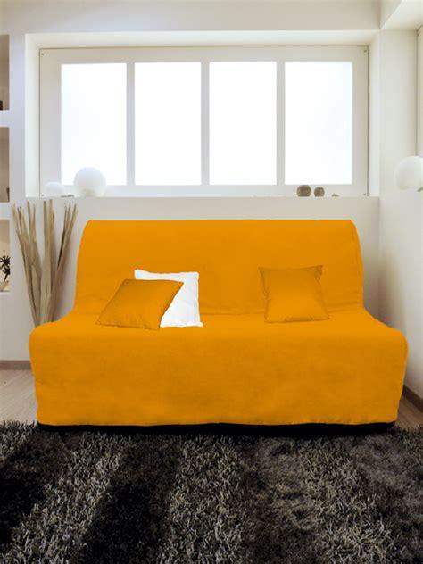 housse pour canapé pas cher housse pour canapé bz adaptable couleur orange pas cher