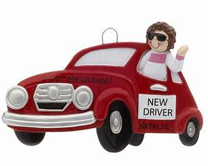 New Driver Girl - Personalized Ornament