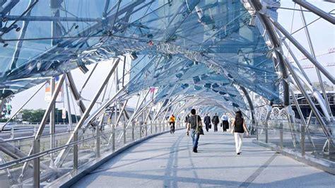 double helix bridge marina bay singapore world