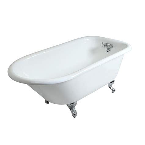 5 foot tub aqua 4 5 ft cast iron chrome claw foot roll