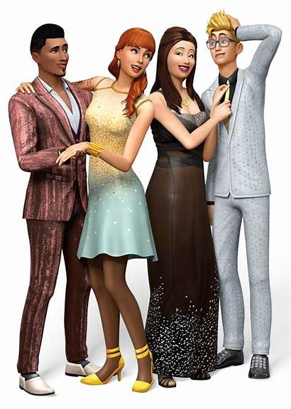 Render Sims Party Luxury Transparent Selecting Clicking