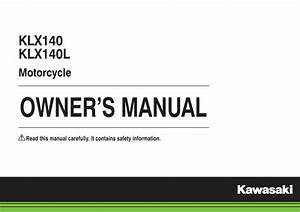 Kawasaki Klx140l 2015 Owner U0026 39 S Manual