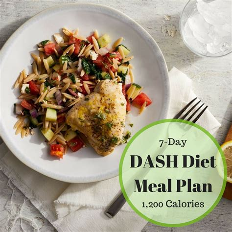 dash diet recipes 7 day dash diet menu eatingwell
