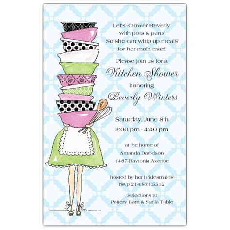 kitchen momma shower invitations paperstyle