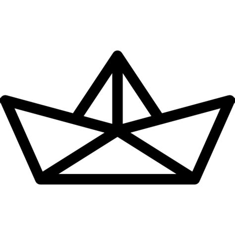 Origami Boat Outline by Holidays Ship Icon