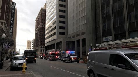 construction worker injured   foot fall downtown