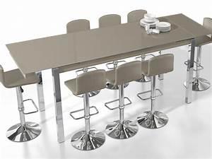 Mange Debout Extensible : table haute bar 8 personnes ~ Teatrodelosmanantiales.com Idées de Décoration