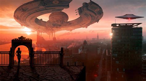 fantasy scifi world space ship  bv hd wallpapers