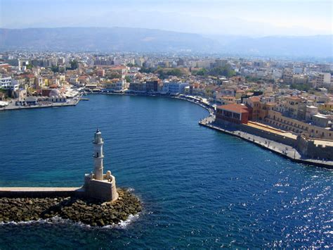 wall mounted chania lighthouse travel guide for island crete greece