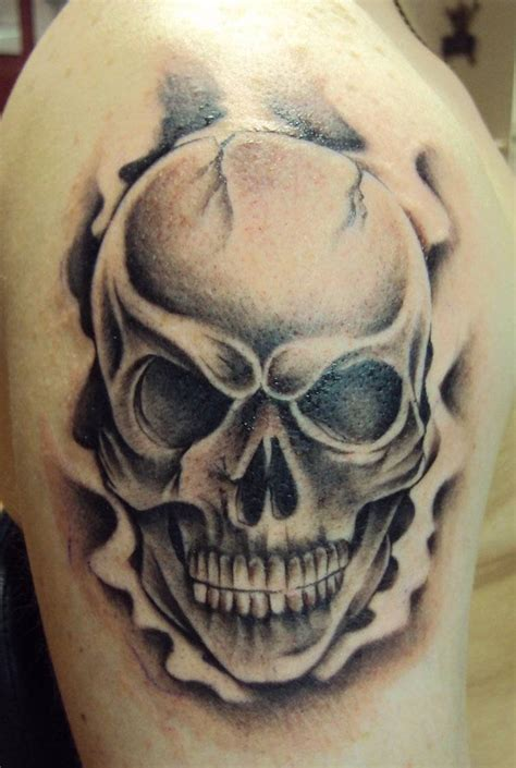 Dessin Tatouage Tete De Mort  Galerie Tatouage