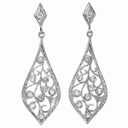 Diamond Earrings Filigree Jewelry Fine Robert