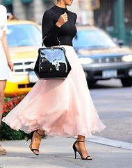 Long Skirts Street Style Fashion