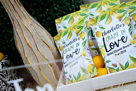 lemon themed bridal shower  coordinated bride
