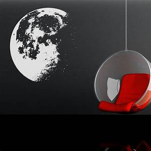 vinyl wall decal sticker moon flowing in space 523 With amazing look with moon and stars wall decals