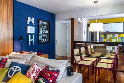 Colourful Mix and Match Penthouse Interior Design