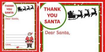 letter  santa writing frame santa letter