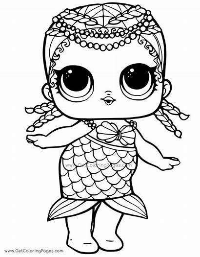 Coloring Lol Mermaid Doll Pages Surprise Dolls