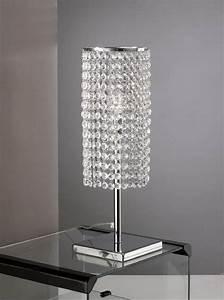 Lampe Mit Kristallen : tischlampe aus chromemetall mit kristallen lixa ~ Orissabook.com Haus und Dekorationen