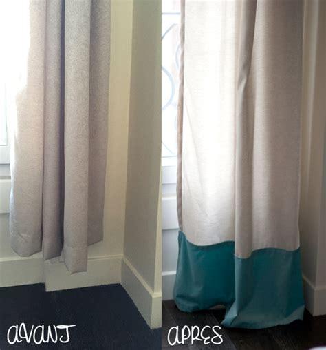tenture chambre bébé diy rallonger des rideaux trop courts mode bon