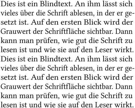 dateiblocksatz beispiel deutsch german text sample