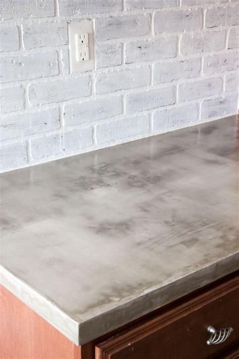 DIY Feather Finish Concrete Countertops   Plan de travail