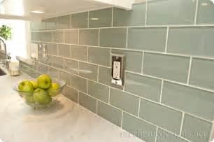 green subway tile kitchen backsplash shorely chic blue glass subway tile