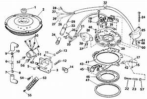 Johnson Ignition Parts For 1990 15hp J15resr Outboard Motor
