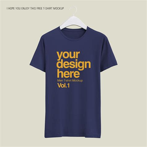 Free mockup in psd format. Free Realistic T-Shirt Mockup - Mockup Free Downloads