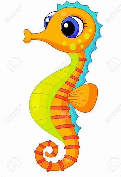 Seahorse Cartoon Clip Clipart Sea Animals Illustration
