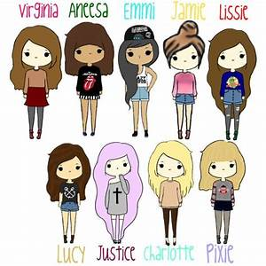 cartoon girls Google Search Art Pinte