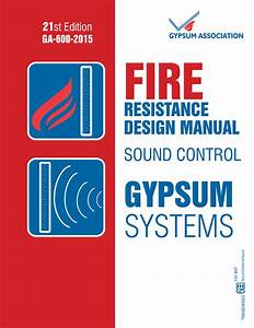 Ga-600-2015  Fire Resistance Design Manual