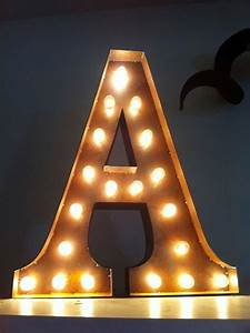vintage marquee lights ready to ship letter a With marquee letter a
