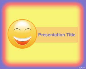 happiness powerpoint template    shiny yellow