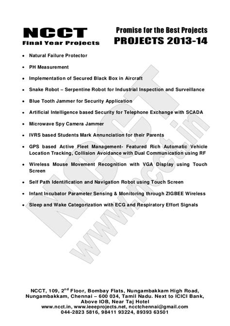2013 14 embedded systems project list - non ieee based