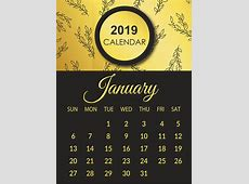 Free January & February & March 2019 Printable Calendar