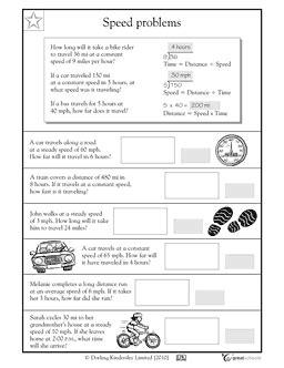 Calculating Speed  Worksheets & Activities  Greatschools  6science  Pinterest Worksheets