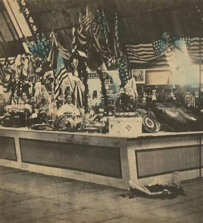 1864 Sanitary Fair Philadelphia Attendees Displays Chubachus