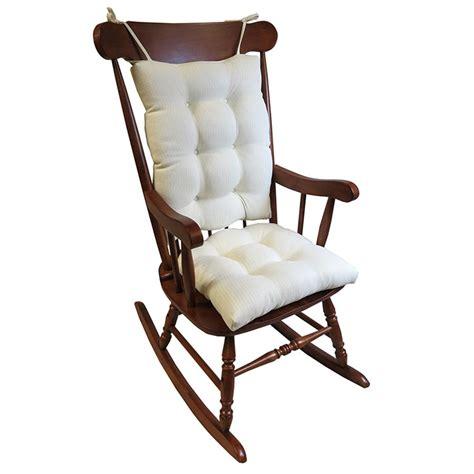 rocking chair cushion sets jumbo gripper omega ivory jumbo rocking chair cushion set