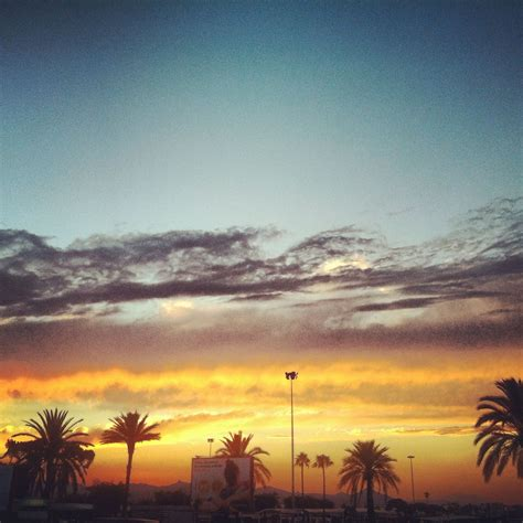Barcelona airport sunset