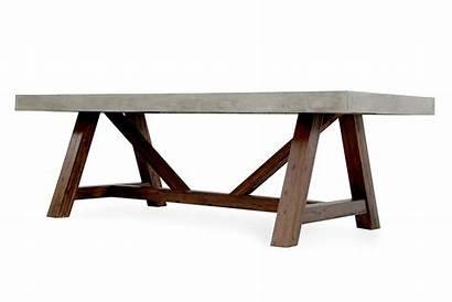 Concrete Dining Table Modern Modrest Revok Acacia